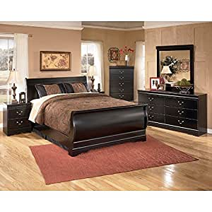 Huey vineyard sleigh bedroom set king kitchen for Bedroom furniture amazon