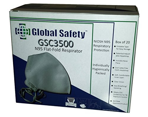N95 Particulate Respirator Mask Flat Fold Box of 20