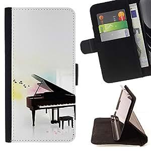 Momo Phone Case / Flip Funda de Cuero Case Cover - Piano - Samsung Galaxy S6