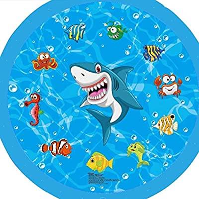 Kindes 170cm Children Portable Cute Print Outdoor Inflatable Water Cushion Water Spray Toy Pool Rafts & Inflatable Ride-ons from Kindes