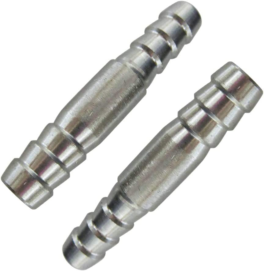 Metalwork Stainless Steel 304 Hose Barb Fitting 1//4 Barb x 1//4 Barb 2 Pcs Union Splicer Mender