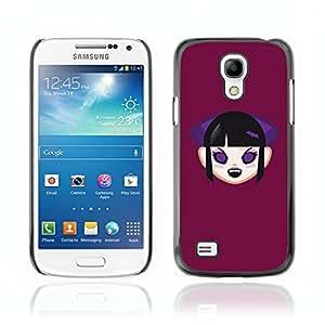CASETOPIA / Vampire Girl / Samsung Galaxy S4 Mini i9190 MINI VERSION! / Prima Delgada SLIM Casa Carcasa Funda Case Bandera Cover Armor Shell PC / Aliminium