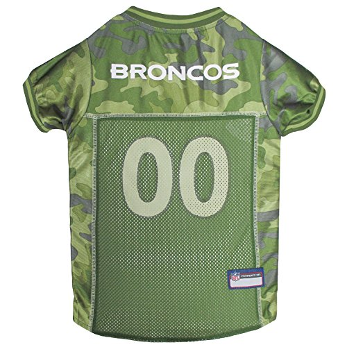 NFL Denver Broncos Camouflage Dog Jersey, Medium. -