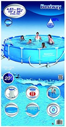 Bestway Splash Junior - Piscina con Marco de Acero, con Bomba de ...