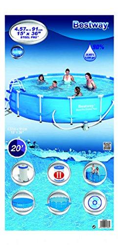 Bestway-Frame-Pool-Stahlrahmenbecken-Set-Splash-Junior-mit-Filterpumpe-NL-mit-Zubehr