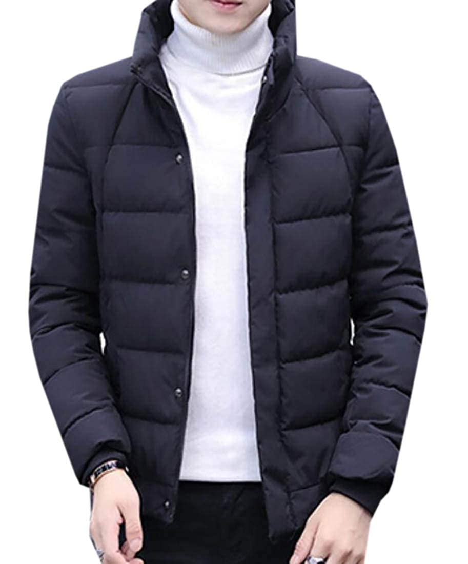 WSPLYSPJY Mens Packable Stand Collar Down Jackets Outwear Puffer Down Coat