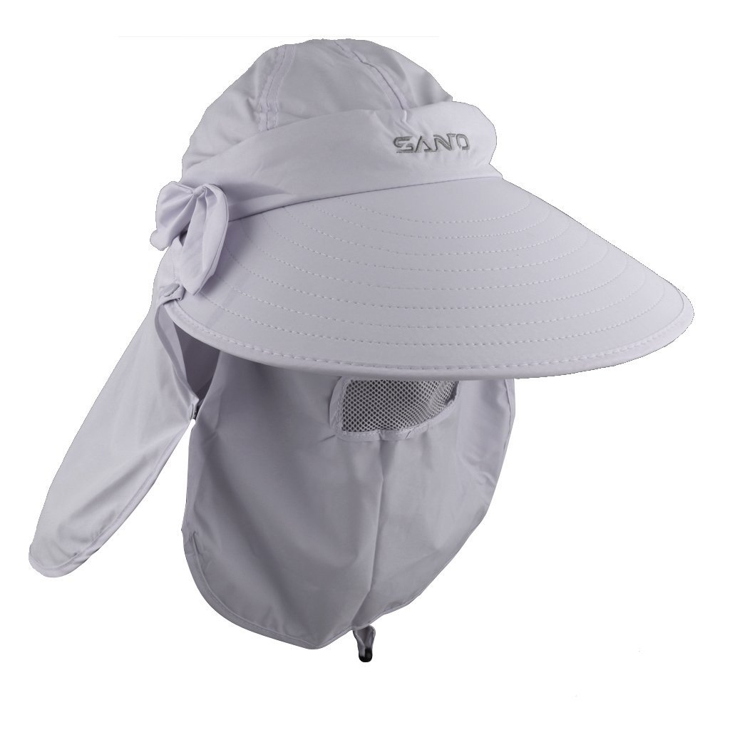 4b7dfc432c7 Buy Imported Unisex Outdoor UV Sun Protection Hiking Fishing Wide Brim Cap  Hat Light grey Online at Low Prices in India - Amazon.in