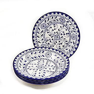 Le Souk Ceramique Pasta/Salad Bowls, Set of 4, Azoura Design