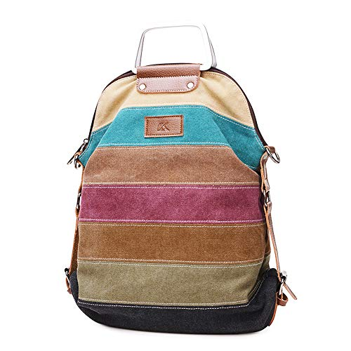 Canvas Handbag SNUG STAR Multi-Color Striped Lattice Cross Body Shoulder Purse Bag Tote-Handbag for Women (Multi ()
