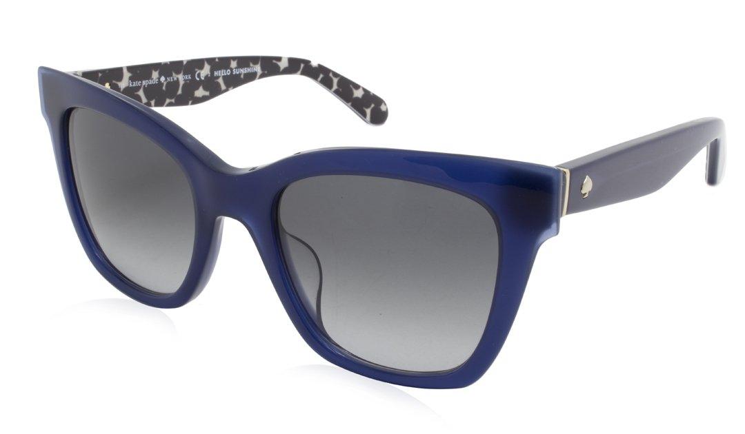 Kate Spade Sunglasses - EMMYLOU/S/Frame: Blue Black Lens: Grey-EMMYLOUSS4T