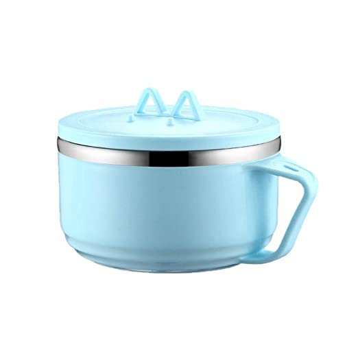Tazón para sopa con tapa para microondas azul: Amazon.es: Hogar