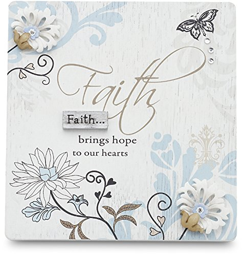Mark My Words Self Standing Plaque with Faith Saying, 4-3/4 by 5-Inch -