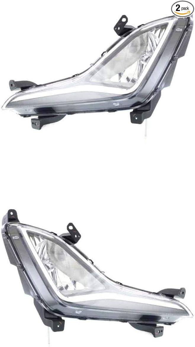 Fits 14-16 Hyundai Elantra Driver Side Fog Light Assembly