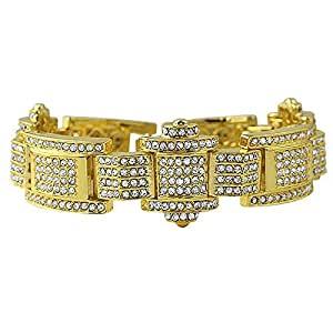 Chain Bracelets diamond Alloy hip hip men bracelet