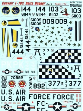 Used, Convair F-102 Delta Dagger, Part 2 Print Scale 72-150 for sale  Delivered anywhere in USA