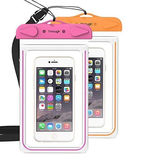 ユニバーサル防水電話ケース、iThrough Underwaterバッグ/防水ポーチ/ドライバッグ/ Wterproofケースfor iPhone 6s / 6 Plus / Se / 5 / 5s / 5 C / 4 / 4s / Samsung Galaxy s7 / s6 / Edge / s3 / s4 / s5 / Note 2 / 3 / 4 / 5