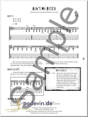 Riff Technology of Metallica – Guitarra oten Partituras: Amazon.es ...