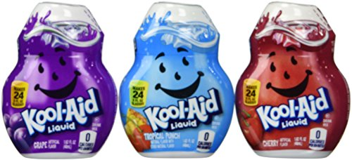 Kool-Aid Liquid Drink Mix Variety 3 Pack (Grape, Cherry and Tropical Punch) 1.62 fluid ounces (Flavor Aid)