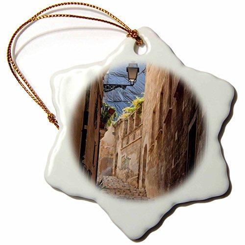 3dRose Danita Delimont - Architecture - Spain, Balearic Islands, Mallorca, Palma de Mallorca, street scenes - 3 inch Snowflake Porcelain Ornament (orn_277903_1) by 3dRose