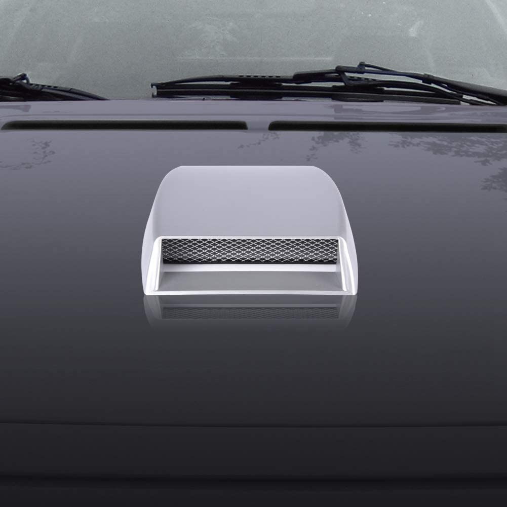 Black Air Flow Cover Universal Car Decorative Cover Hood Air Flow Intake Scoop Bonnet Vent Sticker