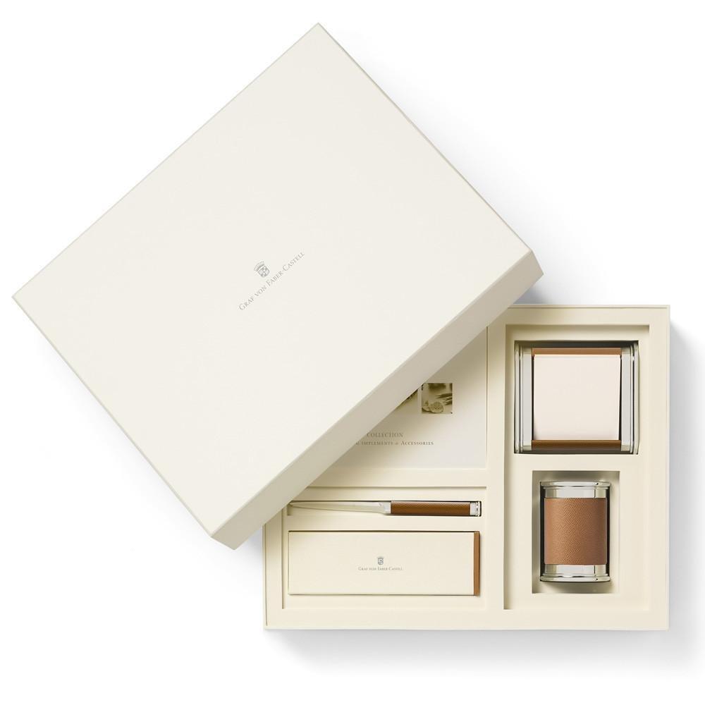 Graf Von Faber-Castell Set Accessori da Scrivania piccolo marrone
