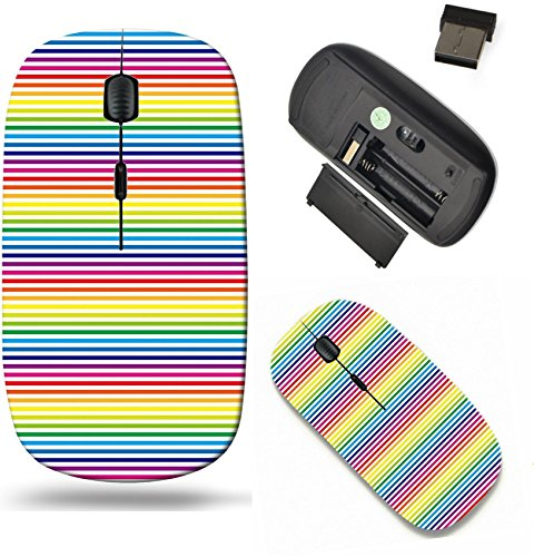 Scroll Stripe Wallpaper - Liili Wireless Mouse Travel 2.4G Wireless Mice with USB Receiver, Click with 1000 DPI for notebook, pc, laptop, computer, mac book IMAGE ID 32484747 Background Material wallpaper Stripes of rainbow co