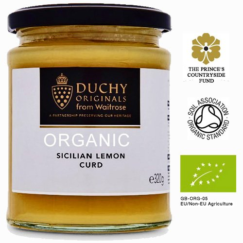 Duchy Originals Organic Sicilian Lemon Curd 320g - Bio-Zitronencreme (Aufstrich)