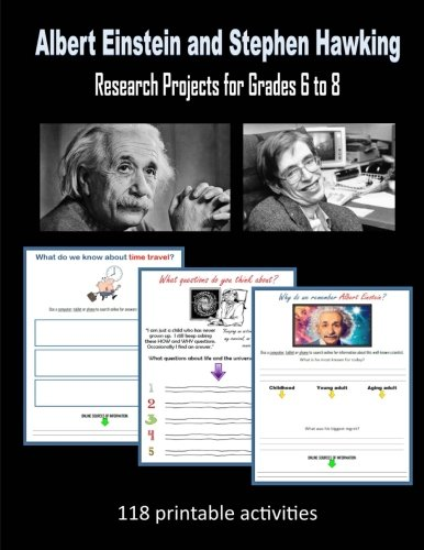 Download Albert Einstein and Stephen Hawking: Research Projects for Grades 6 to 8 ebook