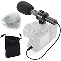 Movo On-Camera Stereo Video Microphone with Windscreens &...