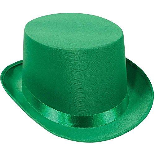 Green Satin Deluxe Top Hat
