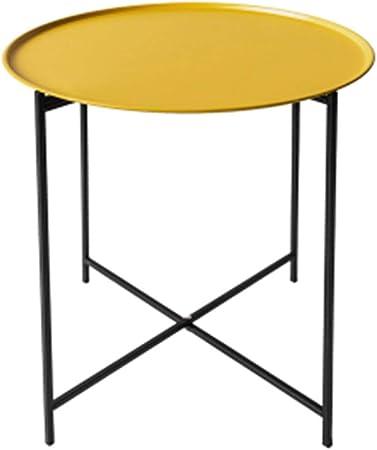 tavolino Rotondo tavolino Piccolo Camera da Letto Colore : Blu Soggiorno Tavolino da caff/è JCOCO Metallo Moderno Nordico