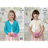 King Cole 4427 Crochet Pattern Girls Short Cardigan to Crochet in King Cole Galaxy DK by King Cole