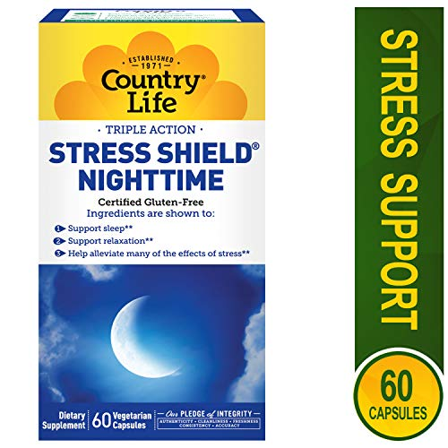 COUNTRY LIFE Vitamins Stress Shield,Nighttime, 60 VCAP (Pack of - Nighttime Vitamin