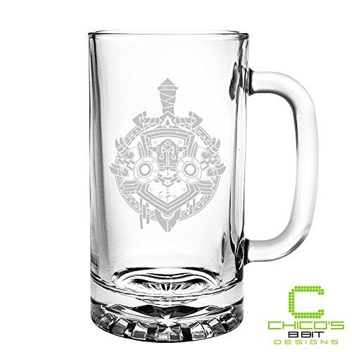 World of Warcraft - Warrior Class - Etched Beer Mug