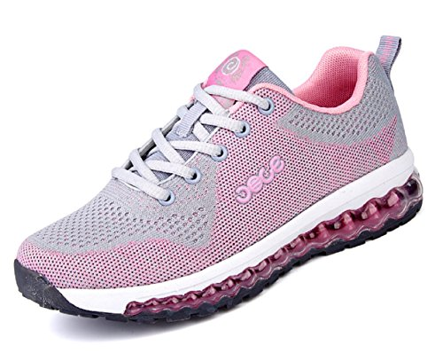 Mens Tennis Shoes Leisure Air Cushion Mesh Casual Lightweight Running Walking Sneakers Athletics Shoes Pink NHehvNBw