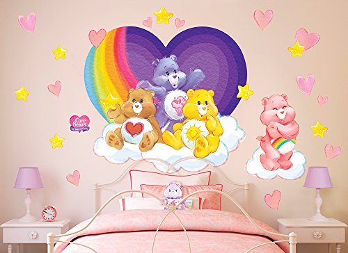 Care Bears Room Decor (Care Bears Rainbow Heart Wall Decal Set)