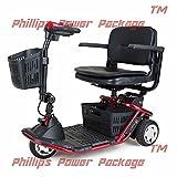 Golden Technologies - LiteRider Mini - Lightweight Travel Scooter - 3-Wheel - Red - PHILLIPS POWER PACKAGE TM - TO $500 VALUE