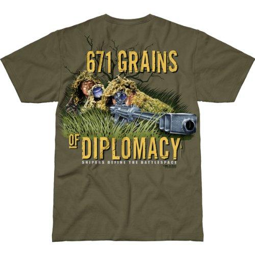 7.62 Design 'Sniper Team' Premium Men's T-Shirt Military Green XL