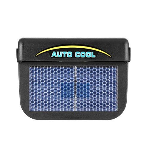 MqbY Solar Power Car Auto Air Vent Cool Fan Cooler Ventilation System Radiator Fan Exhaust Heat Fan Automobile Fan with Rubber