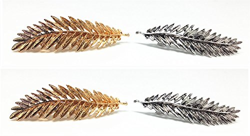 QTMY 4 PCS Metal Leaves Hairpin Hair Clips Hair Accessories