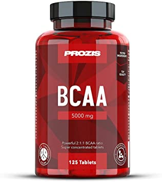 Prozis BCAA 5000 125 Cáps - Leucina 2:1:1, Isoleucina, Valina ...