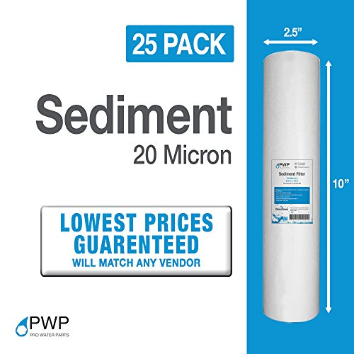 Sediment Water Filter RO/DI Biodiesel WVO/SVO Whole House 10x2.5 25pcs 20 micron Disappear Blown