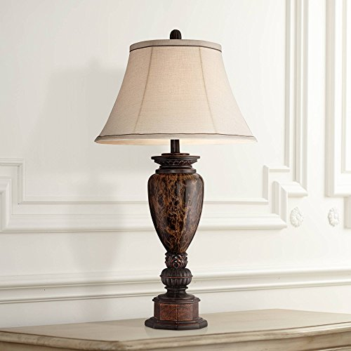 - Kathy Ireland Sonnett Bronze Font Table Lamp