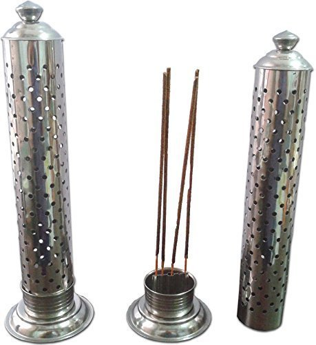 (Stainless Steel Incense Stick Holder and burner for sticks Agarbati Stand Pooja Accessory Incense holder steel box)