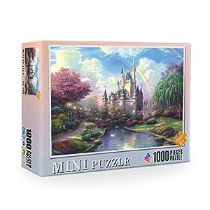 WJPT 1000 Pieces of Paper Jigsaw Puzzle-Adult Puzzle Children's Toy Game Puzzle Painting Fantasy Castle pattern-38x26cm