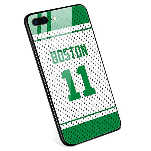 - iPhone 8 Plus Cases, Tempered Glass iPhone 7 Plus Case Irving Jersey Pattern Design Black Cover Basketball Sport Case for iPhone 7/8 Plus 5.5 - Boston #11