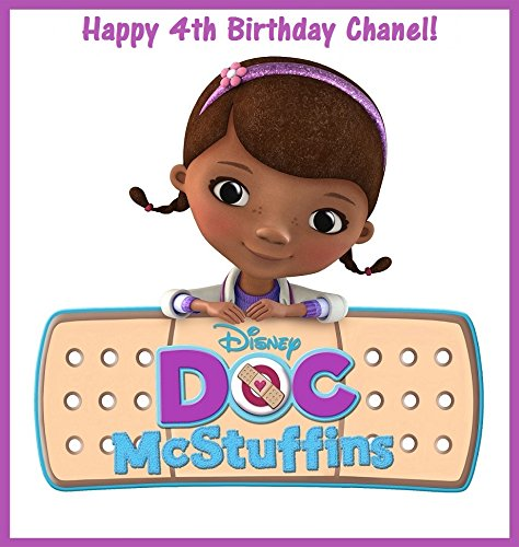 12 Doc McStuffins PERSONALIZED Stickers, party supplies, Treat Bag Labels, Decorations, Birthday