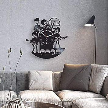 Rock Music Band, The Beatles Vinyl Clock, John Lennon And Yoko Ono, Vinyl Wall Clock, Handmade, Best Gift for Fans, Vinyl Record Clock, Kovides, Silent, Wall Sticker, Valentines Day Gift For Him