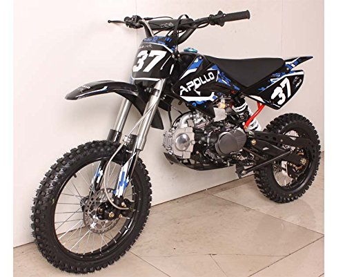 """New Apollo Dirt Bike 125cc Big Size with 17"""" Tires Ultimate Details"""