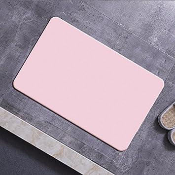 XYZHF*Cojines de Barro de diatomeas Natural Agua absorción Velocidad Seca baños Antideslizantes Cojines diatomeas Tierra Mat Inodoro 60 * 39cm Pink: ...